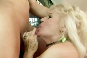 bushy big beautiful woman granny receives snatch