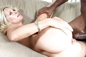graceful blonde d like to fuck impaled on a large