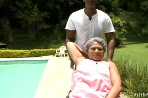 insane old brazilian granny slut!