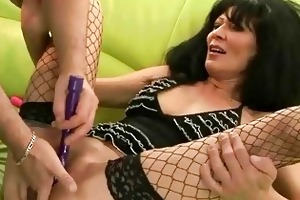 granny receives her cum-hole drilled hard