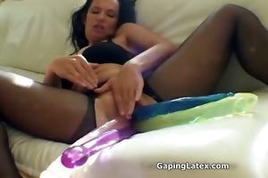 wicked wench goes eager fake penis fucking hard