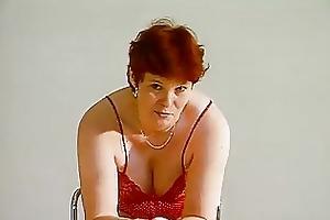 older german lady shows off video