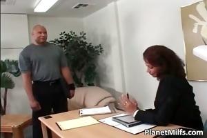 big dark boy copulates three-some lustful mom