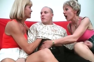 lascivious aged whores are very hungry for trio