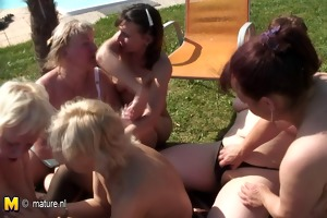 older lesbo gang group sex with a legal age