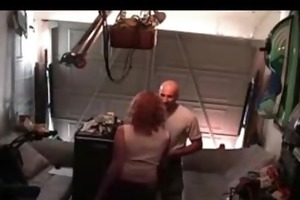 lustful wife acquires busted banging in the garage