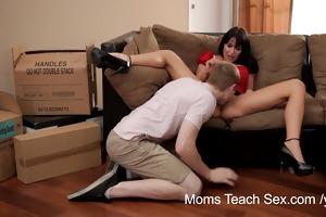 mammas educate sex - her boyfriend jizzed on her