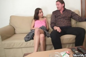 horny gf jumps on her bfs dad rod