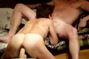 concupiscent wife rides big fake penis and sucks