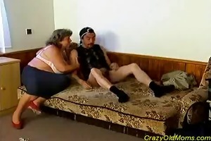 eager old mommy receives large weenie oral-job