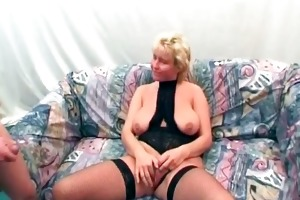 obese golden-haired mother i with massive boobies