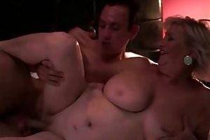 breasty overweight grandma enjoys sex with a guy