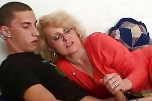 old bag blackmails son in law to sex and wife