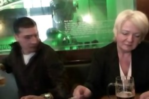 absolutely drunk granny takes jocks