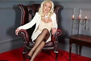posh mother i leggy lana teases in sheer