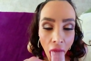 lisa ann deepthroat oral-sex and titjob