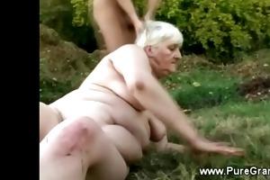 chunky granny gangbanged by the devil