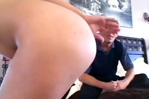 breasty mama in checkered nylons and heels has sex