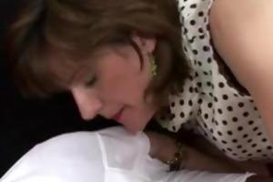 aged brit femdom interracial oral job