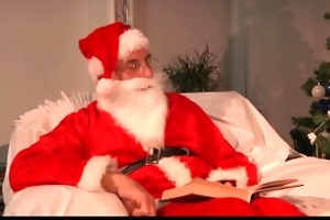 ribald santa and his helper punishes a wicked