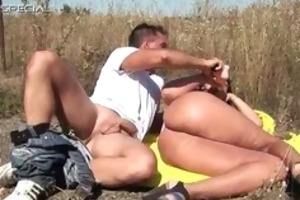 lascivious milf receives screwed hard outdoor