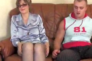 aged in nylons and glasses fucks