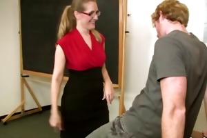hawt teacher d like to fuck in glasses sucks
