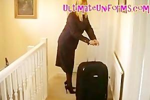 hose stewardess in authentic flight attendant