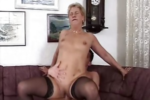 aged mama in hot nylons riding part2