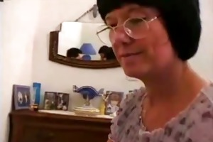 mother i with glasses receives screwed