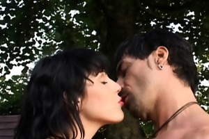 breasty tina makes a romantic oral-job to her