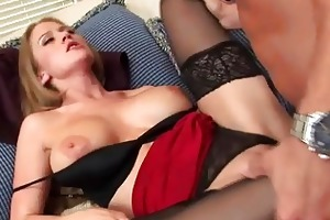 spruce golden-haired d like to fuck slurps on