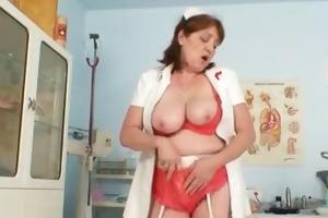 breasty non-professional grandma spunk flow sex