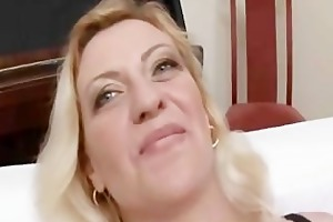 perverted mature blonde in wild groupsex!