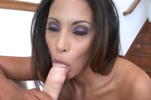 hardcore act with a sexually excited latin chick
