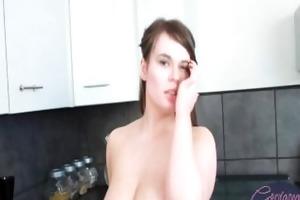 big beautiful woman british honey plays with her
