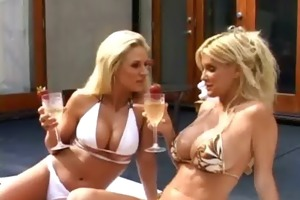 sexy lesbo non-professional milfs toying and