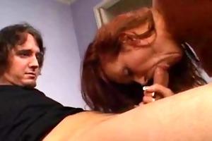 redhead mama and chap