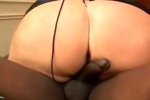 aged bbw golden-haired with pierced nipps getting