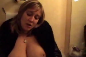 large boobed mom masturbating in front of mirroro