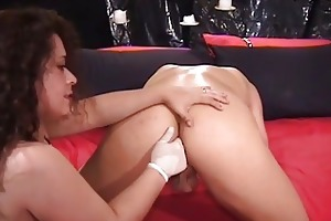 naughty milf brunette fucking hunk with dong