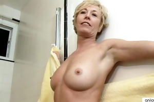 shower sextoy pleases breasty anilos chanel