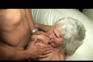 granny norma acquires perspired