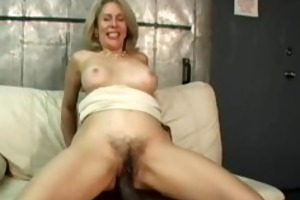 slutty sexy booty cougar blond drilled by giant