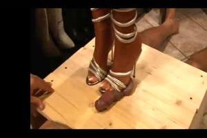 hawt heels working on the cockbox