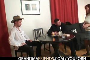 poker playing granny getting drilled by lads