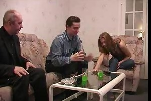 gang group sex with old dude and lad