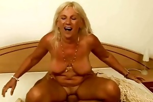 nasty breasty granny enjoys hard sex