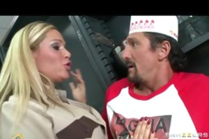 sexy large tit blonde cop copulates big rod for