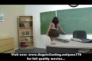 nasty redhead schoolgirl spanked by teacher and
